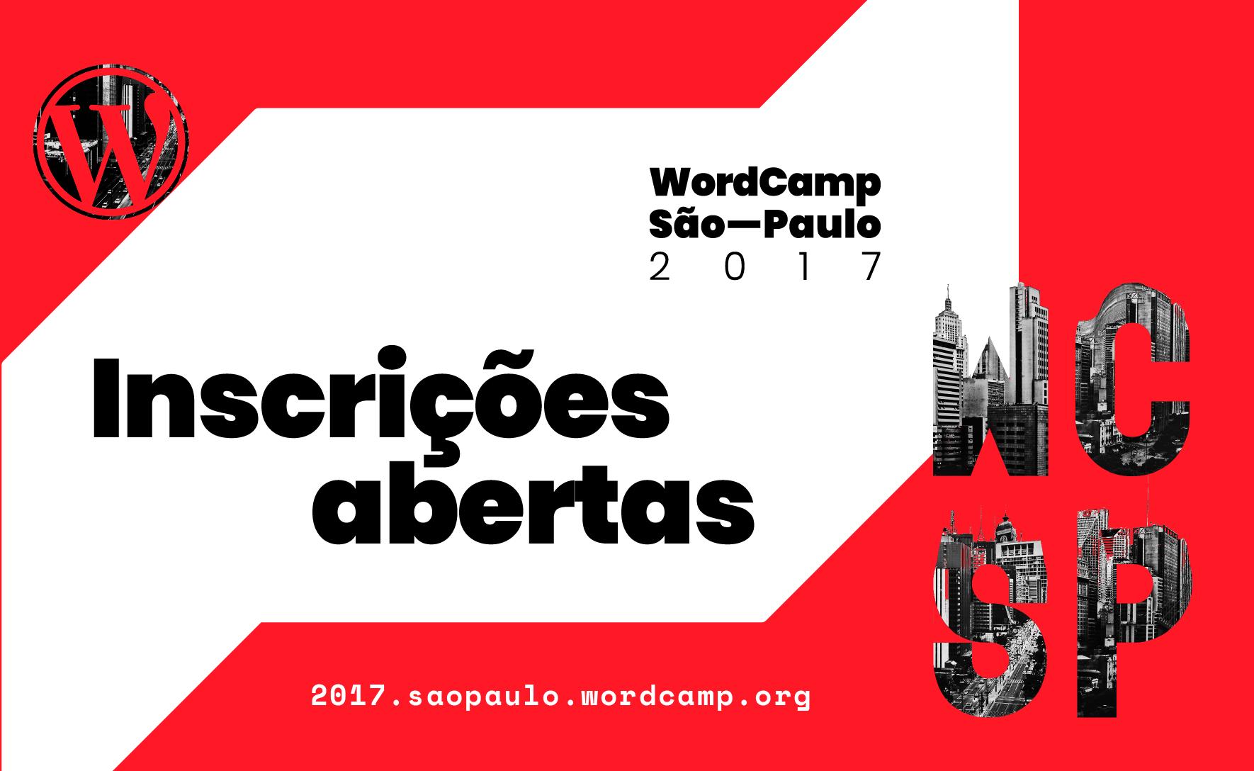 O WordCamp São Paulo ocorrerá dia 2 de Dezembro de 2017